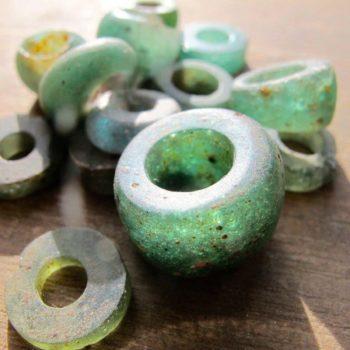 perle verre vertes