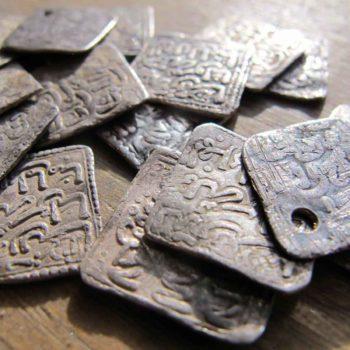 piece argent carrée maroc