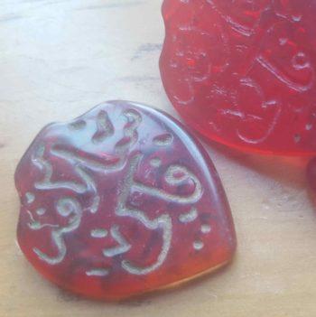 perles verre rouges Redlhammer